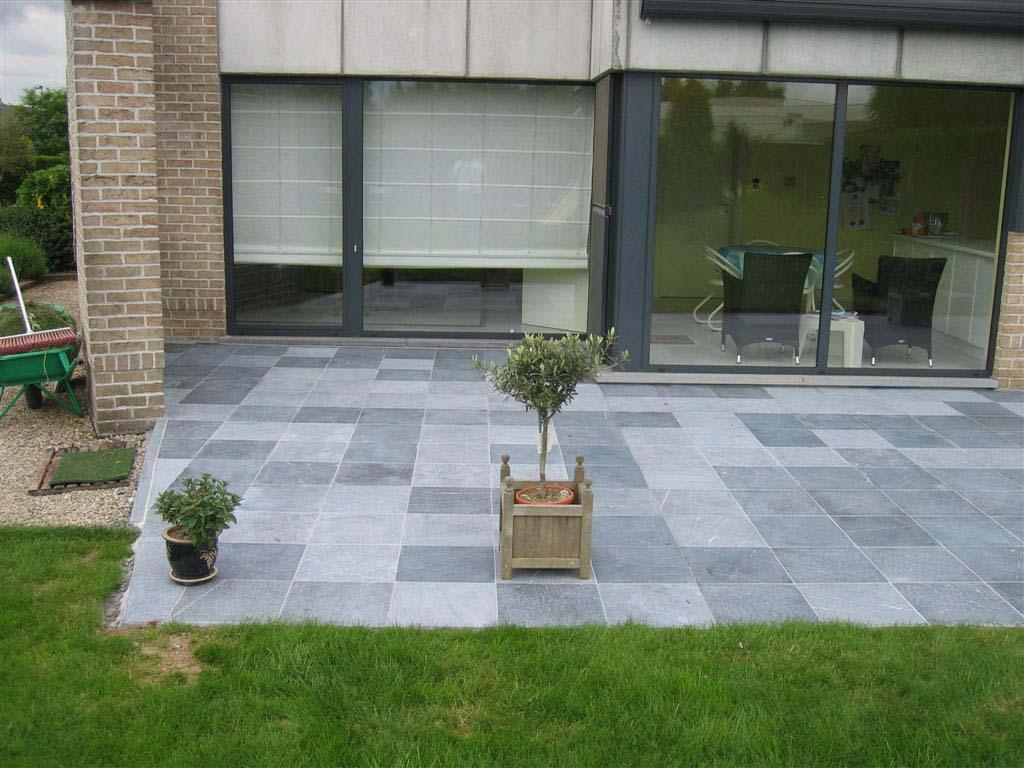Terrassen graniet blauwe hardsteen basalt leisteen betontegels bvba adriaens gunther - Afbeeldingen van terrassen verwachten ...